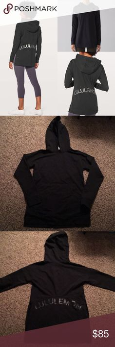 🆕 Lululemon Cut Above Expressions hoodie Lululemon Cut Above *Expressions hoodie in black. Lululemon lettering on back. Interior kangaroo pocket. Material is 92% and 8% elastane. Size 4. ❗️Sorry, I do not trade.❗️ lululemon athletica Tops Sweatshirts & Hoodies