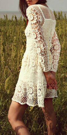 Honey Crochet mini dress