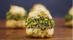 Gougeres with Mortadella Balsamic Mousse and Pistachios - See more at: http://www.rachaelrayshow.com/recipes/24099_gougeres_with_mortadella_balsamic_mousse_and_pistachios/#sthash.uJUlubfp.dpuf