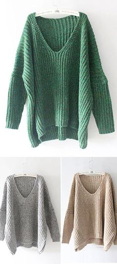 It's time to slip into something a little more comfortable! This Oversized Sweater is made in ribbed blended cotton and features a V-neckline, bats sleeves and loose style. Check more favourite sweater here CUPSHE.COM !