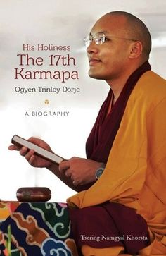 "Published in April 2013 by Hay House India and currently only available in India, ""His Holiness the 17th Karmapa Ogyen Trinley Dorje – A Biography"" by Tsering Namgyal Khortsa is a biography of the head of the Karma Kagyu school of Tibetan Buddhism.  More information here on Flipkart: http://www.flipkart.com/his-holiness-17th-karmapa-ogyen-trinley-dorje-biography/p/itmdj7ferewywwgh?pid=9789381431870"