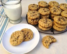 High Altitude Oatmeal Chocolate Chip Cookies (these turn out perfectly at our elevation of 4593 ft)
