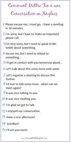 Comment Mettre Fin à une Conversation avec Grâce en Anglais