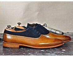 Mens Luxury Shoes : TucciPolo Mono-TB Handmade Special Oxford Italian Leather Mens Dress Shoe