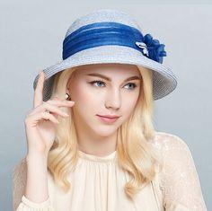 French romantic flower straw hat for women UV crimping sun hats beach wear 3b16fe00c564