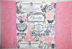 Paris in Pinks 4pc Placemat Set by ColdStreamCrafts on Etsy