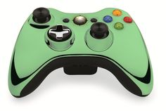 Custom Xbox 360 Controller Wireless Glossy Green Beige- Without Mods