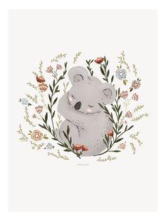 Art And Illustration, Illustration Inspiration, Illustration Mignonne, Watercolor Illustration, Watercolor Art, Cute Animal Illustration, Baby Motiv, Art Mignon, Baby Koala