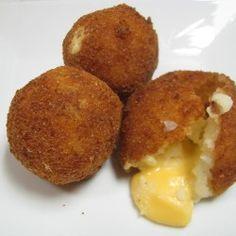 Cheesy fried mashed potato balls....yumm     from  foodwelldone