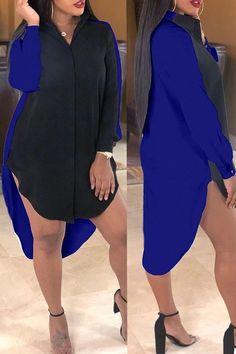 Plus Size - dresses Mini Shirt Dress, Long Sleeve Shirt Dress, Shirt Sleeves, Long Sleeve Shirts, Short Sleeve Dresses, Plus Size Fashion For Women Summer, Studded Shirt, Stylish Tops, Striped Maxi Dresses