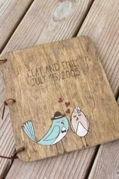 Custom Wedding Guest Book  Wedding  Birds by LazyLightningArt, $40.00