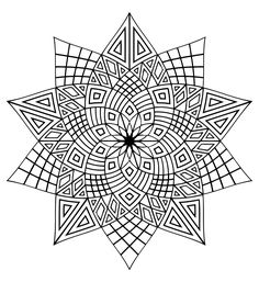 A very mystical mandala with star form, this coloring will allow you an appreciable moment of relaxation, From the gallery : Mandalas