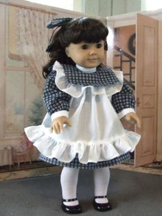 American Girl doll outfit.......Samantha's Play dress and apron.....