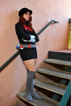 Anime: Pokemon. Character: Grunt (Team Rocket Trainer). Cosplayer: Carla Brown 'aka' November Cosplay - Carla Dawn. Event: Sac-Anime (Sacramento) 2010. Photo: Surfsama