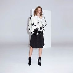 FWSS The Trip Short is a short lamb shearling jacket with press buttons at front, slit in center back, inseam pockets and leather panels on the inside of arms. Fall Winter Spring Summer, Scandinavian Fashion, Shearling Jacket, Fall Jackets, Bell Sleeve Top, Elegant, Coat, Shopping, Clothes