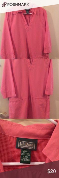 Beach coverup LLBean pink beach cover up or casual dress. LL Bean Swim Coverups