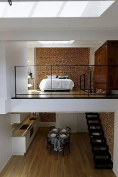 Pin By Ingrid On Loft Ideas In 2020 Tiny Loft Loft Interior Design Small Loft Apartments