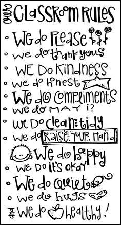 MelonHeadz: Today's freebies Classroom Rules :)