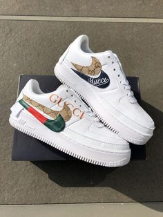 Browse and buy custom sneakers from Nike, Adidas, Vans, and more created by independent artists. Hype Shoes, Gucci Shoes, Vans Shoes, Shoes Sneakers, Shoes Men, Custom Sneakers, Custom Shoes, Nike Custom, Jordan Shoes