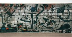 "Did you know there is a hidden mural by #JoanMiró permanently installed in the rotunda of our Frank Lloyd Wright building? ""Alicia"" (196567) is comprised of 190 separate ceramic tiles and is obscured by the first wall encountered as one ascends the museum's spiral ramp. Thomas M. Messer the Guggenheim Museum's director from 1961 to 1988 contacted Miró in 1963 following the proposal of Harry F. Guggenheim then president of the Solomon R. Guggenheim Foundation to commission an appropriate…"