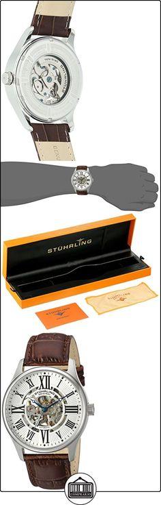 Stührling Original 747.01 - Reloj analógico para hombre, correa de acero inoxidable, color marrón  ✿ Relojes para mujer - (Gama media/alta) ✿