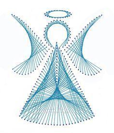 Free Printable String Art Patterns Angel - Bing images Garden Tools, Yard Tools