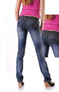 Damen BT Crash Jeans blau Neu Gr.34