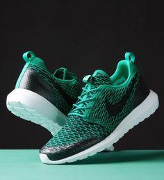 buy online efdeb 4c970 Nike Roshe One Flyknit  Green Nike Shoes Cheap, Cheap Nike, Running Shoes  Nike