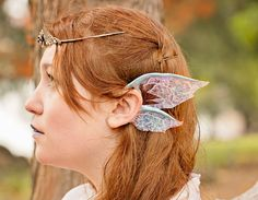 Ice Queen Ear Wings- Frost Dragon, Winter Fairy, or Snow Elf Ear Fins for costumes and cosplay