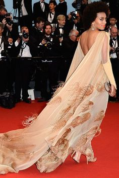 Solange Knowles is looking fierce in this Stephane Rolland train dress. Going bare back too huh?  Featured on my blog