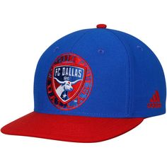 * Men's FC Dallas adidas Blue/Red Two-Tone Adjustable Snapback Hat, Your Price: $25.99