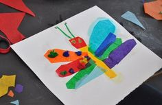 Tissue Paper and Liquid Starch Collage | Carle Museum #tissuepaper #funartprojects #kids #artactivities
