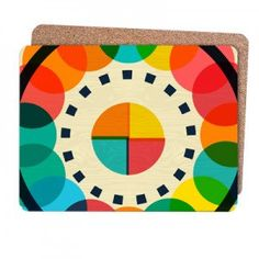 Hey, I found this really awesome Etsy listing at https://www.etsy.com/listing/224153951/geometric-placemats-retro-colourful