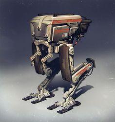 C-22 the sad robot by MathiasZamecki.deviantart.com on @deviantART
