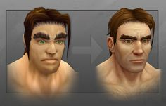 Preview the updated human male model in 'World of Warcraft'