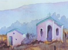'The Pink Church' Kokstad South Africa. Painted by Joan Bastard. Beautiful Places In The World, South Africa, Southern, Paintings, Pink, Ideas, Home Decor, Art, Art Background