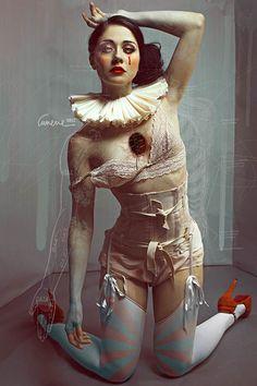 portraits by Elena Zanotti, aka Cunene  between painting and photography