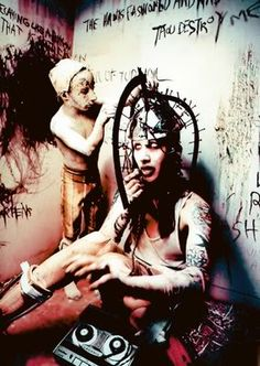 Marilyn Manson - this represent electric shock therapy for the mk ultra mind control programming.