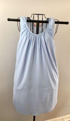 More Of Me XS Blue Sleeveless 100% Silk Shift Dress  | eBay