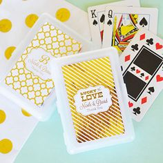Personalized+Metallic+Foil+Playing+Cards+-+Wedding