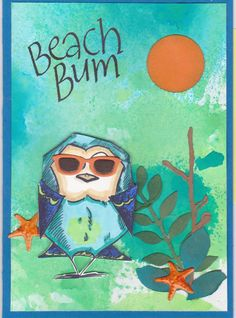 Tim Holtz crazy birds / Beach Bum