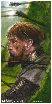 John Howe :: Illustrator Portfolio :: Home / From Hobbiton to Mordor / Cards and Such / Boromir Alan Lee, Tolkien Books, Jrr Tolkien, Lotr Movies, John Howe, Sketch Painting, Middle Earth, Lord Of The Rings, Fantasy Characters