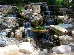 Waterfall created by Dreamscapes Watergardens in Lebanon, PA. #WaterfallWednesday