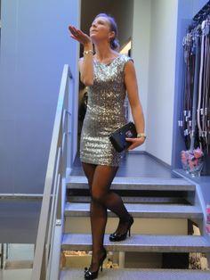 met als model of the day:  Charline Vanneste. Kleedje: Maison Espin Pumps: Guess