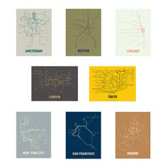 modern, transit-inspired prints by graphic designer and engineer team Cayla Ferari and John Breznick San Francisco, Event Signage, Paris Metro, New York Subway, Subway Art, Modern City, Line Design, Map Art, Graphic Design Inspiration