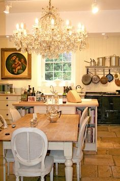 Country Luxe - Kitchen Designs - Shabby Chic & Wallpaper Ideas (houseandgarden.co.uk)