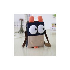 Girl Cartoon Eyes Phone Bag Small Bag Shoulder Bags Crossbody Bags ($8.63) ❤ liked on Polyvore featuring bags, handbags, shoulder bags, white, zip purse, white crossbody, white cross body purse, shoulder handbags and white crossbody handbags