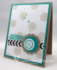 Tape It is another favorite of mine from the new catalog.  http://catherinepooler.com/2013/06/choosing-new-stamps-and-splattering/