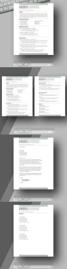 Minted Series by Resume Foundry 4 Pack of Fresh, New Resume - resume template designs