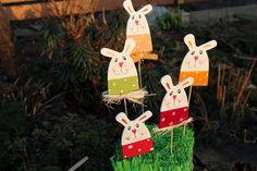 Zápich ZAJÍC v trávě Art Activities, Easter Bunny, Jar, Christmas Ornaments, Holiday Decor, Inspiration, Crafts, Manualidades, Animales